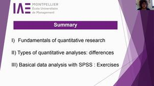 Introduction Research methodology SPSS M2 MIISS IAE