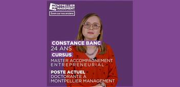Constance Banc, Master Accompagnement Entrepreneurial