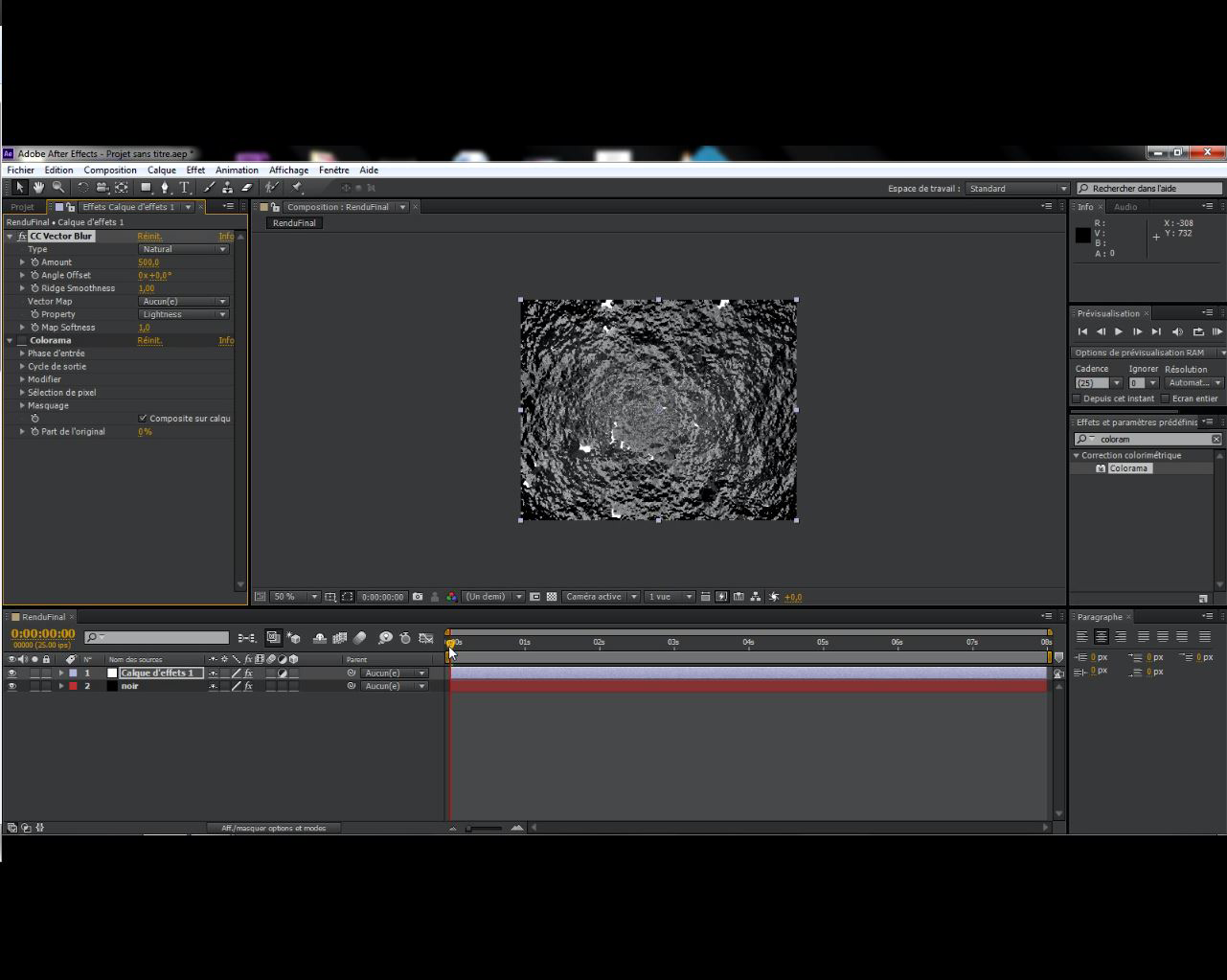 Tutoriel : Animation de texte sur l'eau avec After Effects